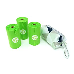 Earth Friendly Diaper Baggy Dispenser with 80 OXO-Degradable Bags with Cardboard Recyclable Core (Triangle)