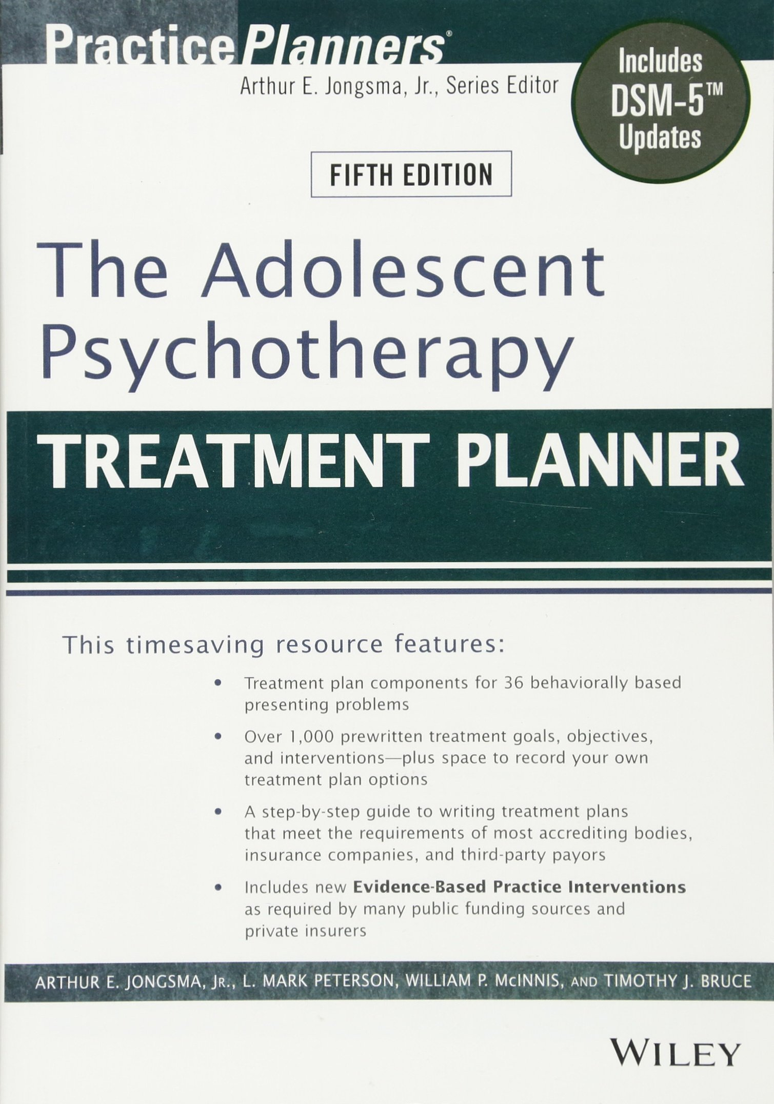 The Adolescent Psychotherapy Treatment Planner: Includes DSM-5 Updates by Wiley