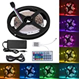 Amazon Price History for:Boomile 16.4ft Flexible LED Light Strip Kit, RGB Color Changing, 150 Units 5050 LEDs Non-Waterproof, DC 12v LED Strip Lights with 44Key Remote Controller and Power Supply for Kitchen Bedroom Car Bar