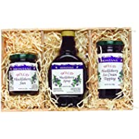 Montana Gift Crate: 10oz Huckleberry Syrup, 8oz Huckleberry Jam, 10oz Huckleberry Topping
