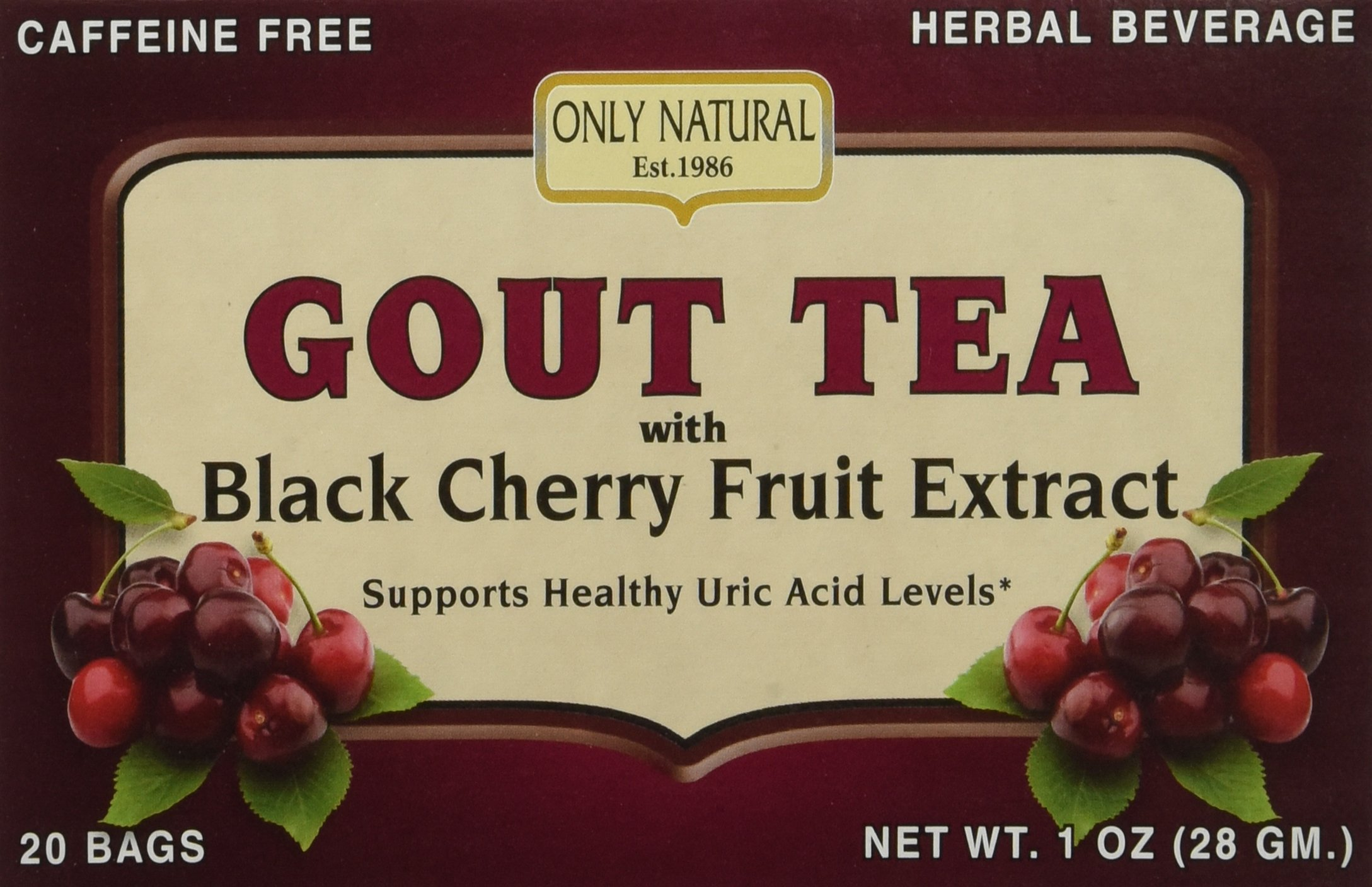 Only Natural Gout Tea Black Cherry Fruit Buy Online In Costa Rica At Desertcart