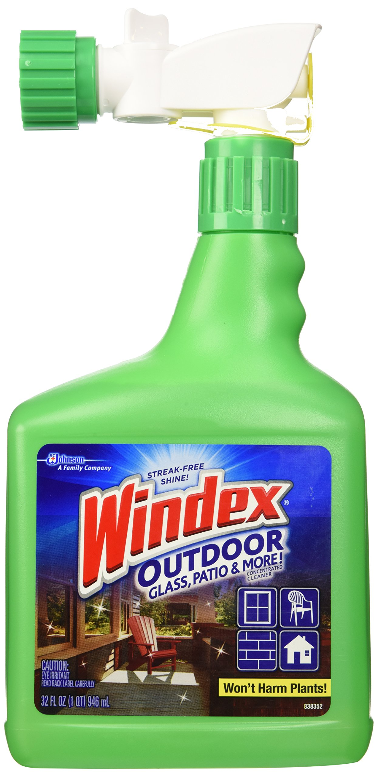 Windex Outdoor Glass & Patio Cleaner 32Oz 1 2
