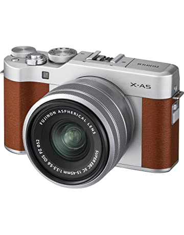 Fujifilm X-A5 Mirrorless Digital Camera, Brown with Fujinon XC15-45mm Optical Image Stabilisation Power Zoom Lens Kit