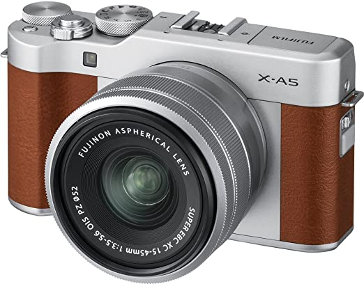 Fujifilm X-A5 Mirrorless Cameras with XC 15-45mm f3.5-5.6 OIS Lens (Brown) Point & Shoot Digital Cameras at amazon
