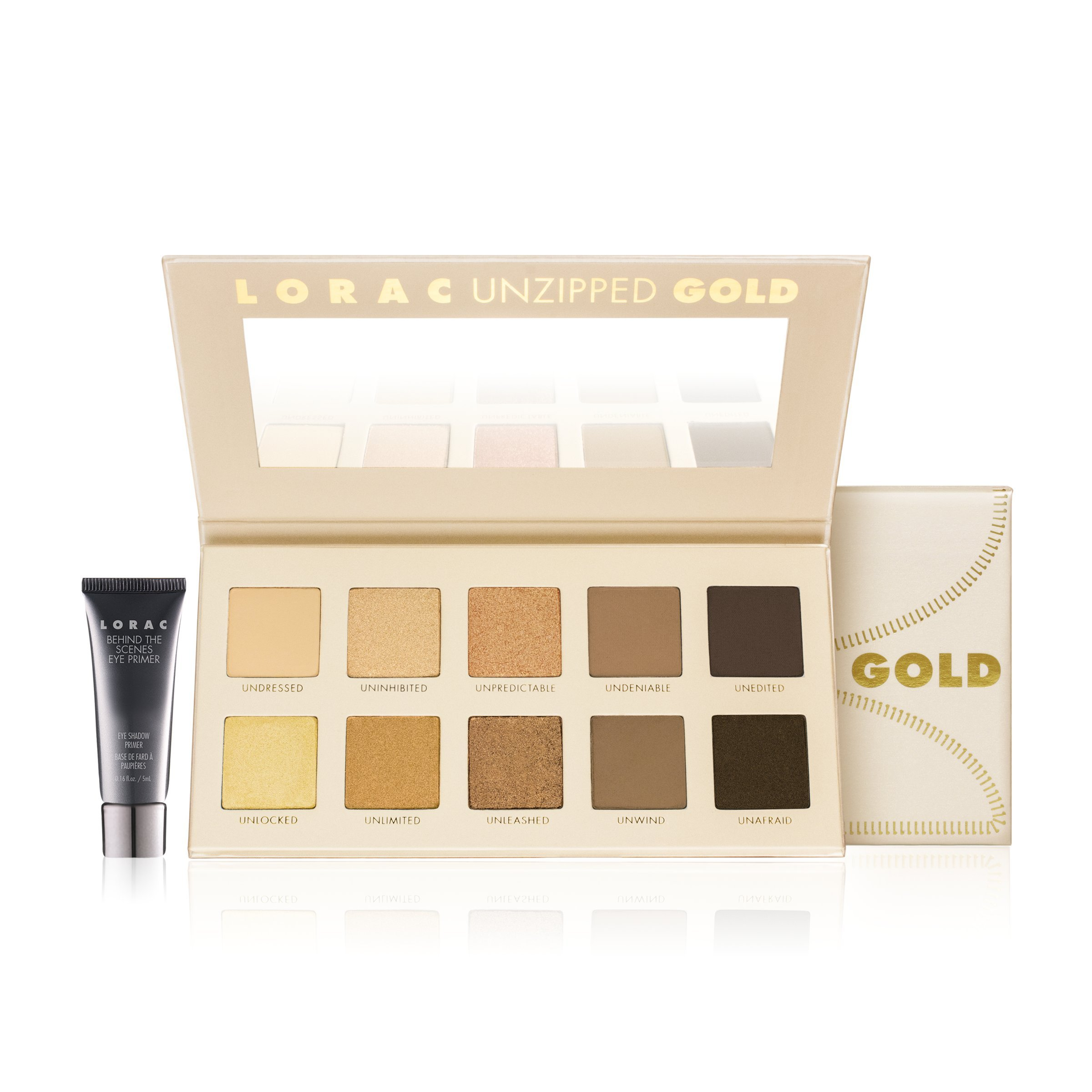 LORAC Unzipped Gold Shimmer and Matte Eye Shadow Palette