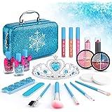 21pcs Kids Makeup Kit for Girls, Kids Play Washable Makeup Set Frozen Toys for Girls, First Princess Little Girls Starter Kit