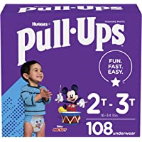 Boys Potty Training Underwear, 2T-3T, Pull-Ups Learning Designs for Toddlers, 108 ct, One Month Supply