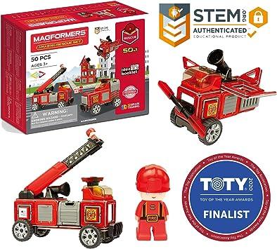 Magformers 717003 Set de rescate para bomberos ...