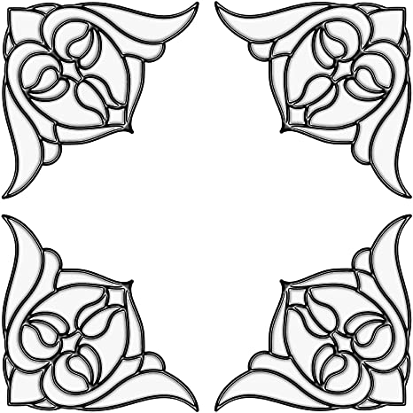 Wallpops Fine Décor - Decorazioni ad angolo per vetrate stile ...