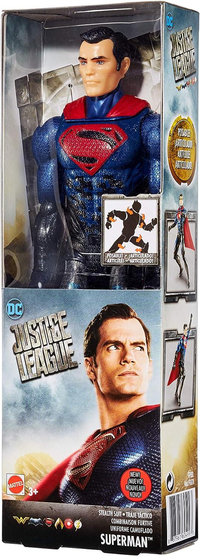 Amazon.com: DC Justice League Stealth Suit Superman Figure ...