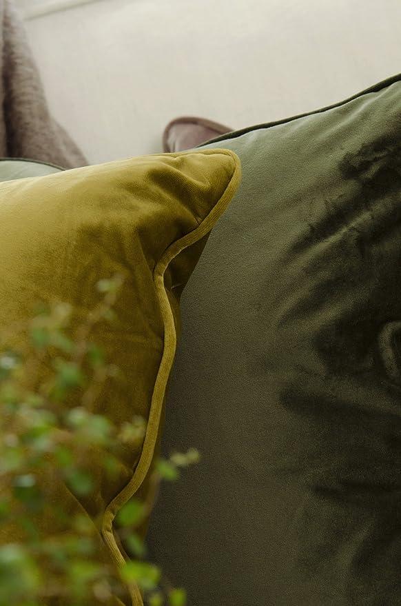 Kissenhülle Kissenbezug Kissen 45 x 45 Samt 033 edel curry-gelb Landhaus Retro