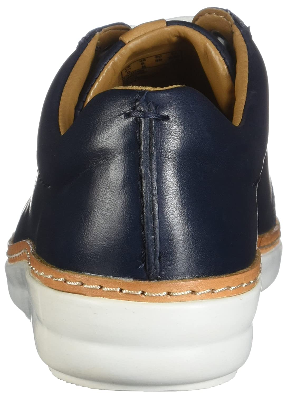 CLARKS Womens Amberlee Rosa Sneaker B073V9TM16 8 B(M) US|Navy Leather