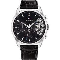 Tommy Hilfiger Men's Analog Quartz Watch with Leather Strap 1710449