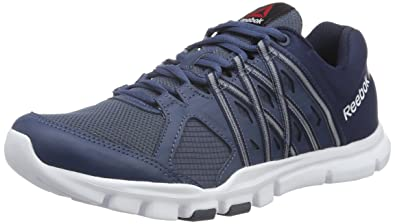 Reebok Yourflex Trainer 8.0, Chaussures de Fitness Homme, Bleu (Royal SlateCollegiate