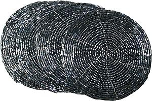 Terraacraft Shimmering Indian Handmade Beaded Coasters -4