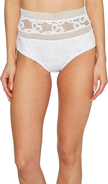 a00f156e437b8 Becca by Rebecca Virtue Womens Lace High-Waist Swim Bottom Separates White  S: Becca by Rebecca Virtue: Amazon.ca: Clothing & Accessories
