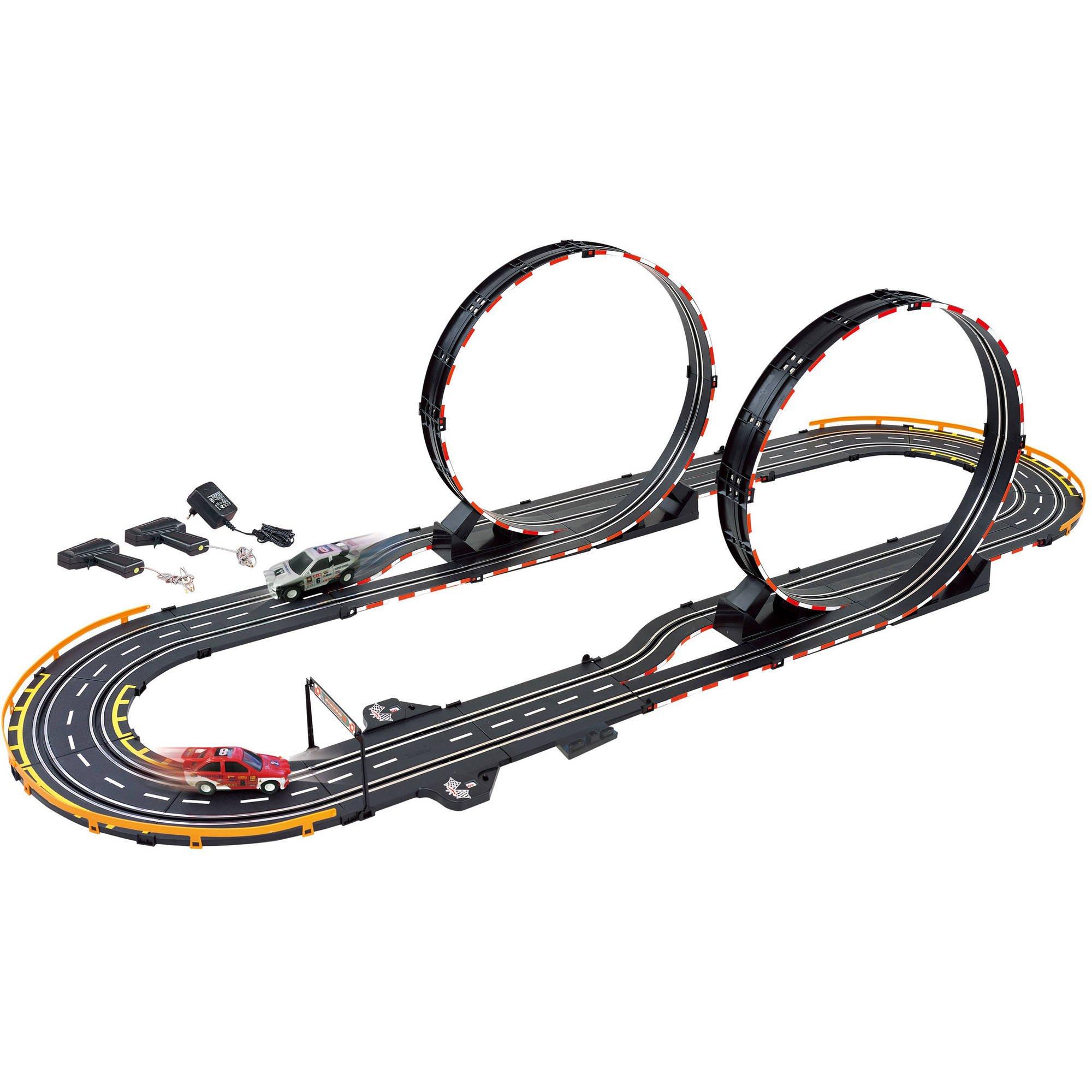 GB Pacific 66511 Parallel Looping Electric Power Road Racing Set, Black