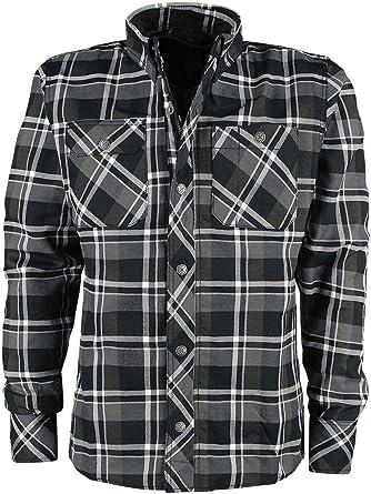 King Kerosin Flannel Hombre Camisa de Franela Negro/Gris ...