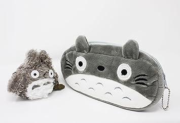 Mi Vecino Totoro peluche Pencil Case Bundle con Totoro suave ...