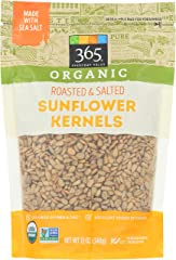 365 by Whole Foods Market, Sunflower Kernels Dry Roasted And Salted Organic, 12 Ounce
