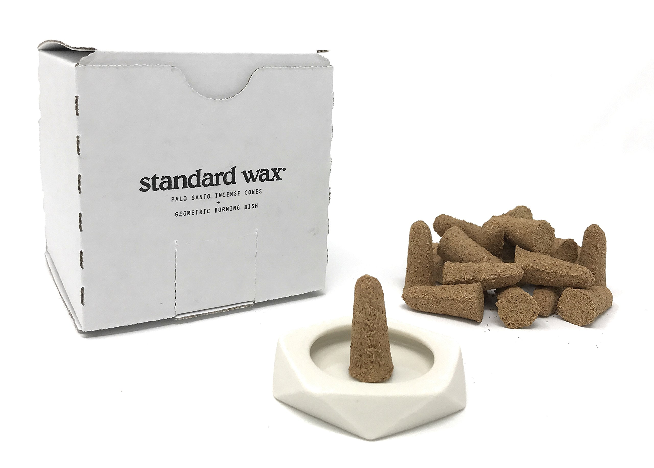 Standard Wax Incense Holder + 20 Palo Santo Cones (Holder Cones)