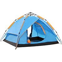 Wnnideo Instant Family Tent 4-5 Person Large Automatic Pop Up Tents Waterproof Outdoor Sports Camping Hiking Travel Beach