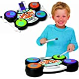 Childrens I-Drum Electronic MP3 iPod Plug & Play Drum Set Kit Music Toy