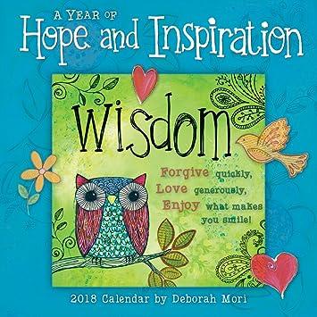 A Year Of Hope Inspiration By Deborah Mori 2018 Mini Calendar
