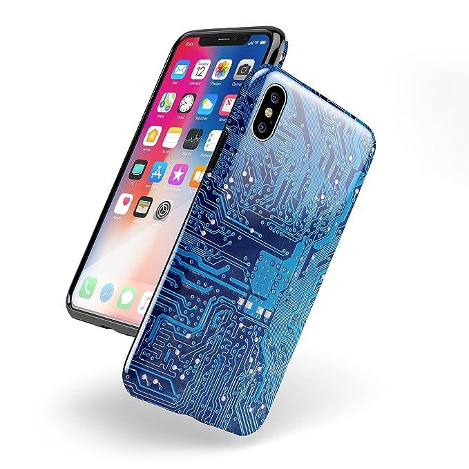 Amazon.com  Blue Cirtcuit Board V1 Design Skinz iPhone X Swappable ... e7489801b1
