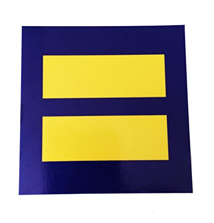 Amazon Com 3x3 Reflective Human Rights Equal Sign Hrc