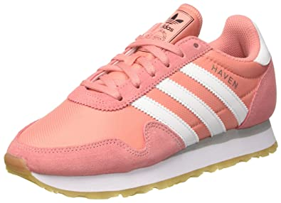 adidas Haven W, Chaussures de Running Femme, Multicolore (Core noir/Wonder rose F10/Grey Four F17), 37 1/3 EU