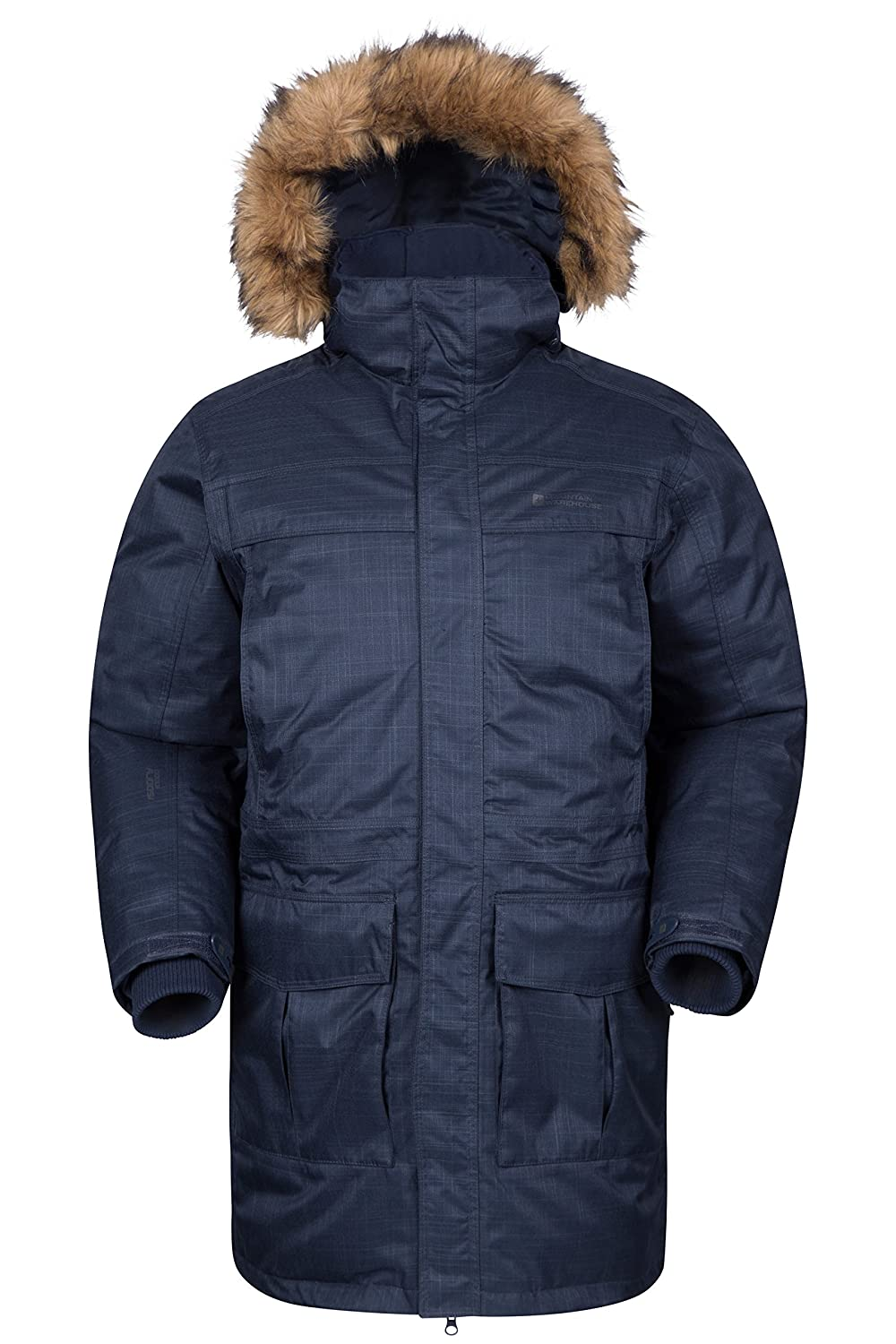 Mountain Warehouse Antarctic Textured Mens Down Jacket Navy X-Small 018823034002