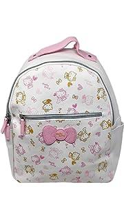 db292f12c9 Amazon.com  Loungefly Hello Kitty Nerd Polka Dot Backpack (White Red ...