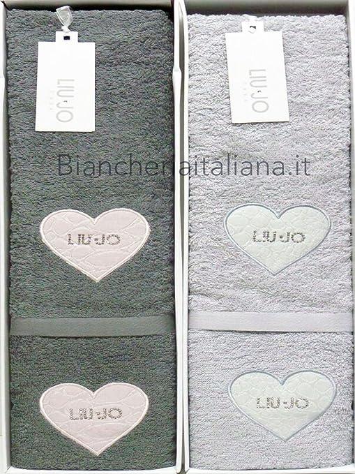 Liu Jo SET 1+1 SPUGNA COCCO-COR 100% cotone (PERLA)  Amazon.it ... 2e33d05d6e4