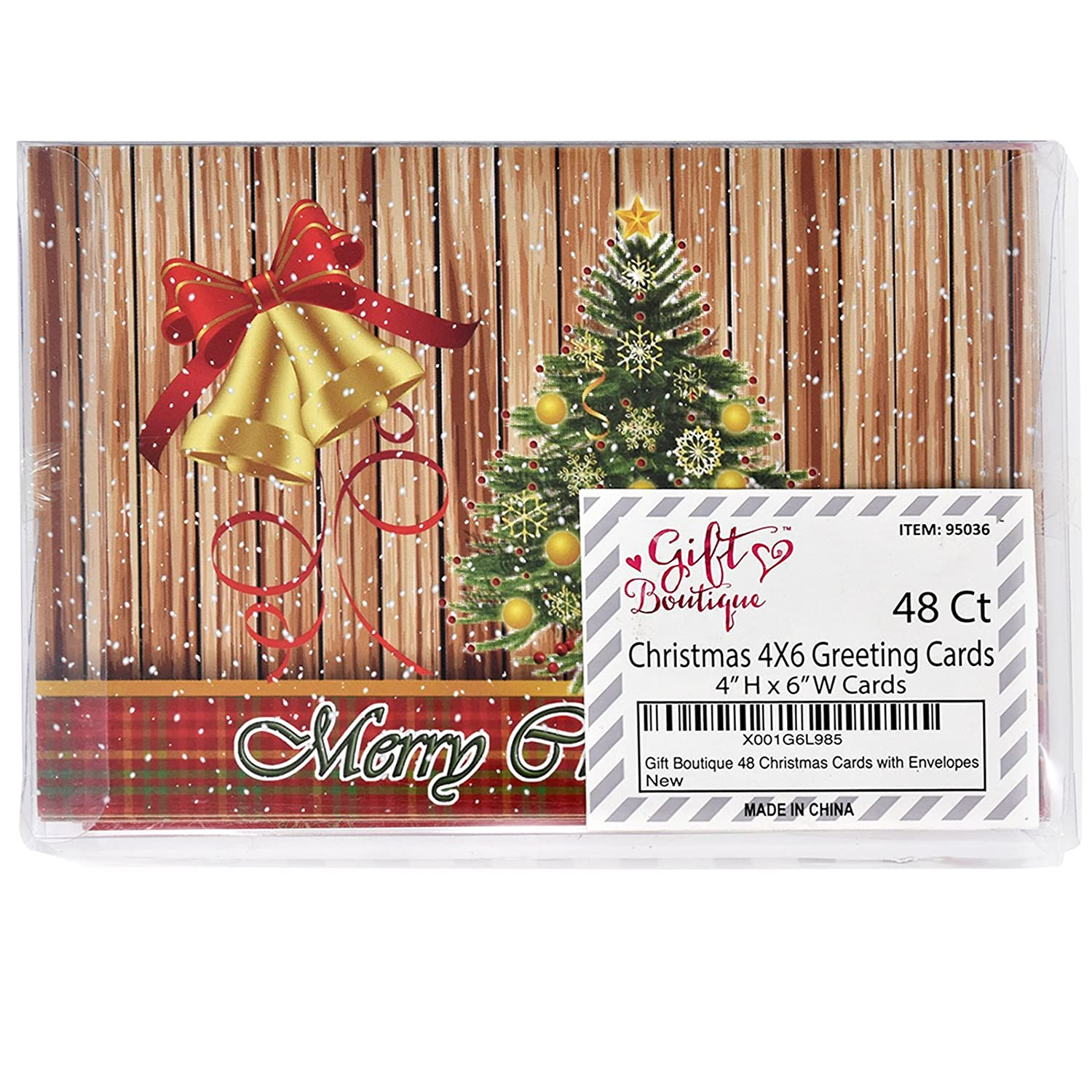Amazon.com : 48 Christmas Greeting Cards with Envelopes Assorted ...