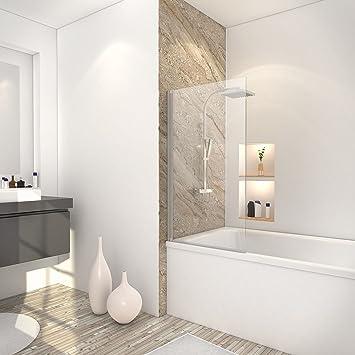 Schulte mampara para bañera 70 x 120 cm, pantalla de mampara de bañera plegable, bañera 1 contraventana, cristal transparente, perfil Alu Nature: Amazon.es: Bricolaje y herramientas