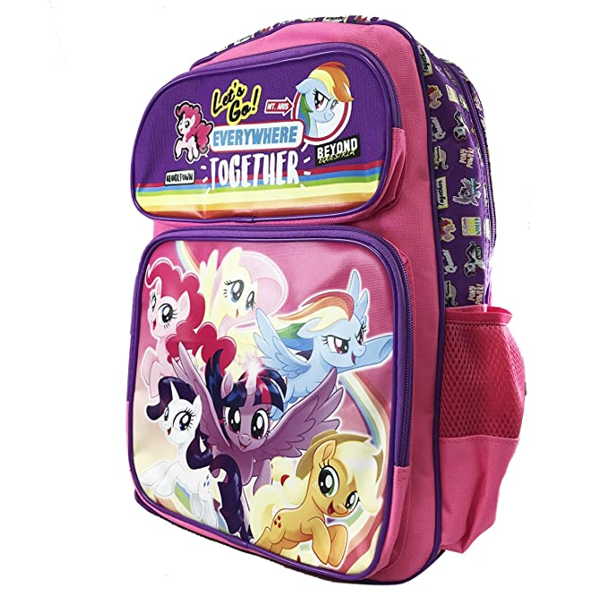 My Little Pony Movie Let's go everywhere together Large 16 Inches Backpack 16