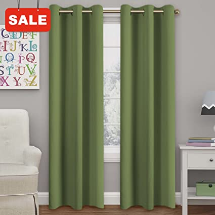 Attrayant Blackout Curtains Panels For Bedroom   Three Pass Microfiber Noise Reducing  Thermal Insulated Solid Ring Top