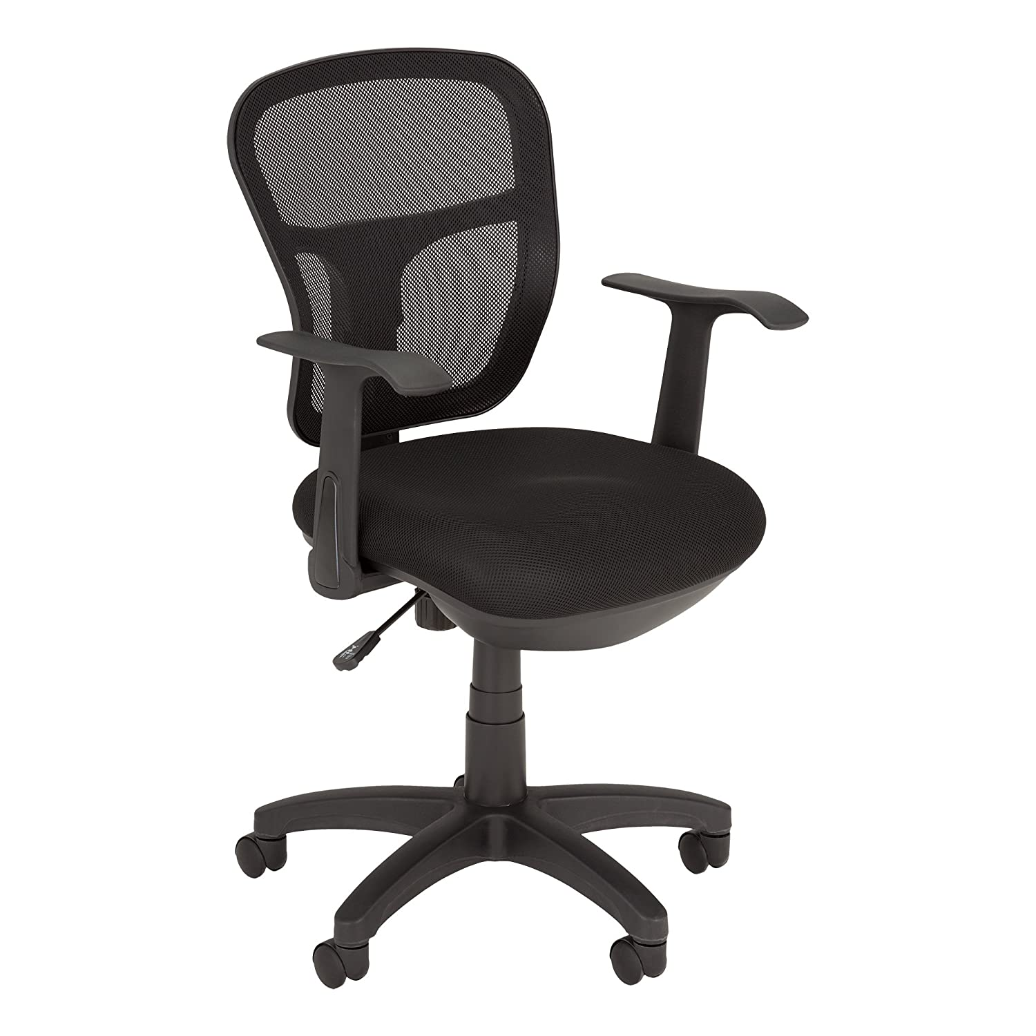 Norwood Commercial Furniture NOR-NAI1000-SO Mesh Back & Seat Task Chair, Black