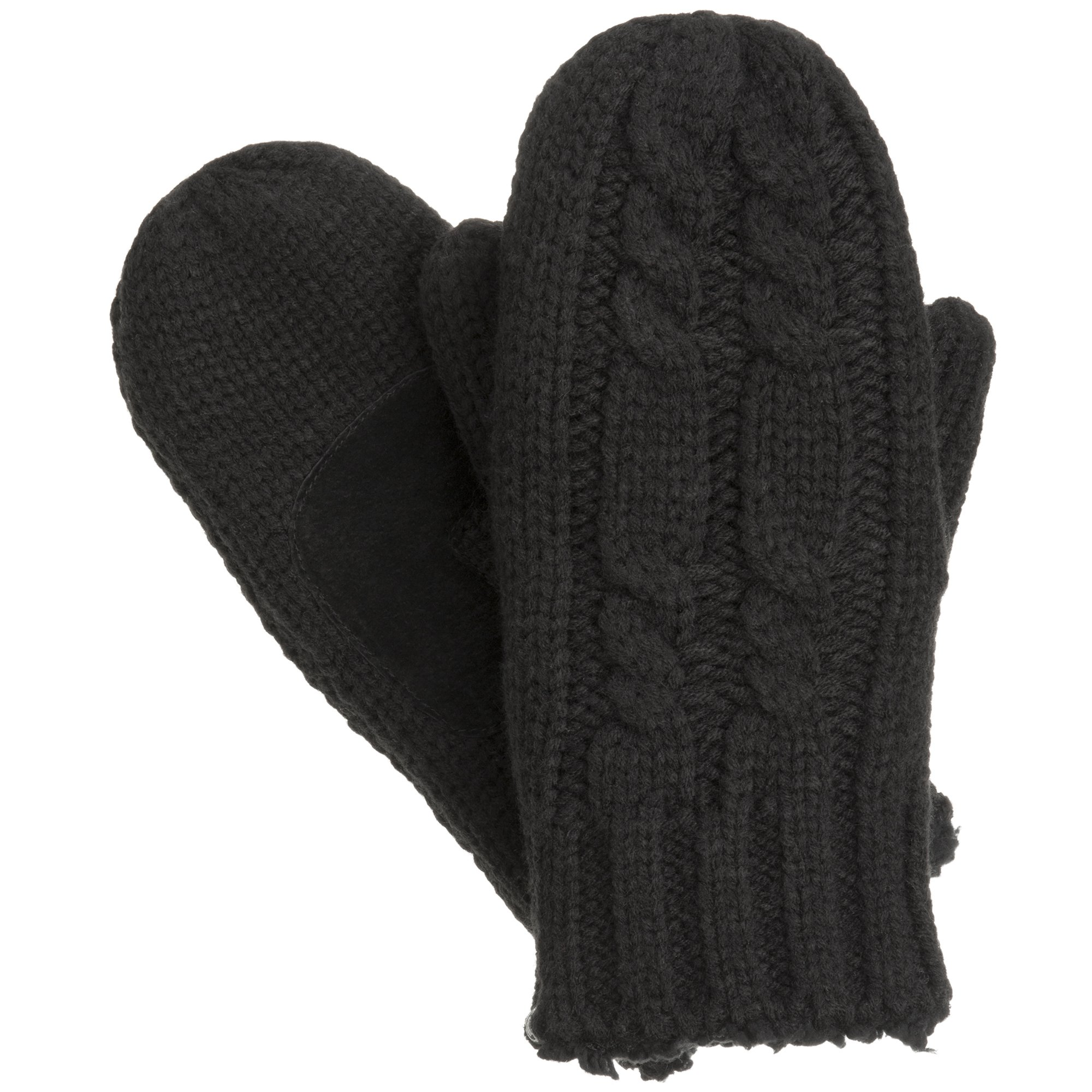isotoner Women's Chunky Cable Knit Cold Weather Mittens with Warm, Soft Lining by ISOTONER