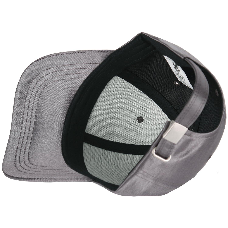 470d65b4e44 RaOn B259 New Empty Satin Sexy Shiny Fabric Women Silk Ball Cap Baseball Hat  Truckers (Black) at Amazon Men s Clothing store