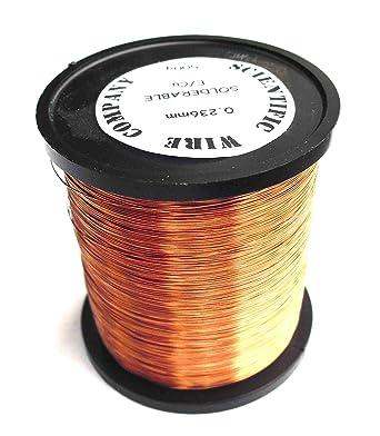 Esmaltado de cobre alambre de bobinado 0,28 mm Calibre 32 de 500 gramos Solderable