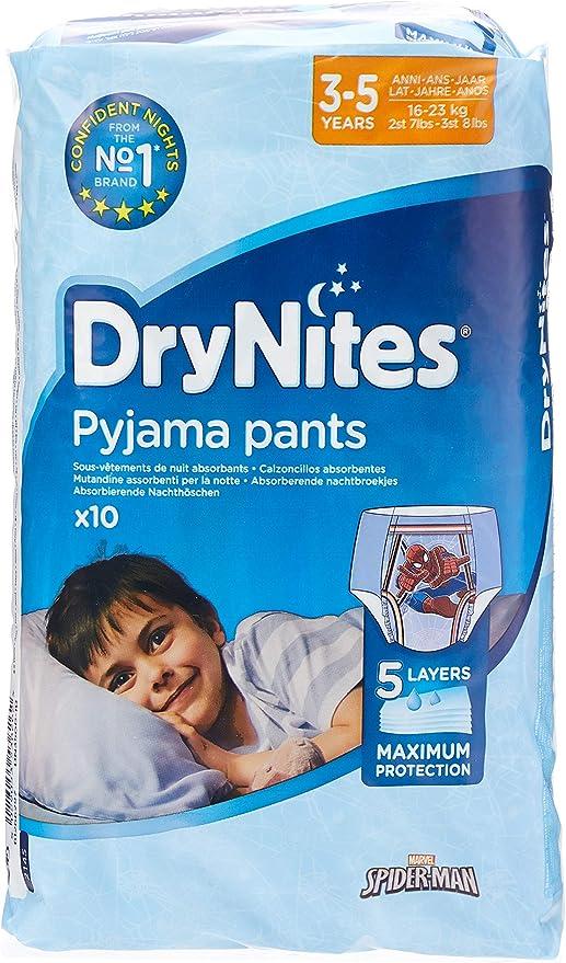 10 Pants Pack of 2 Huggies Drynites Pyjama Bed Wetting Pants Boys 3-5 Years
