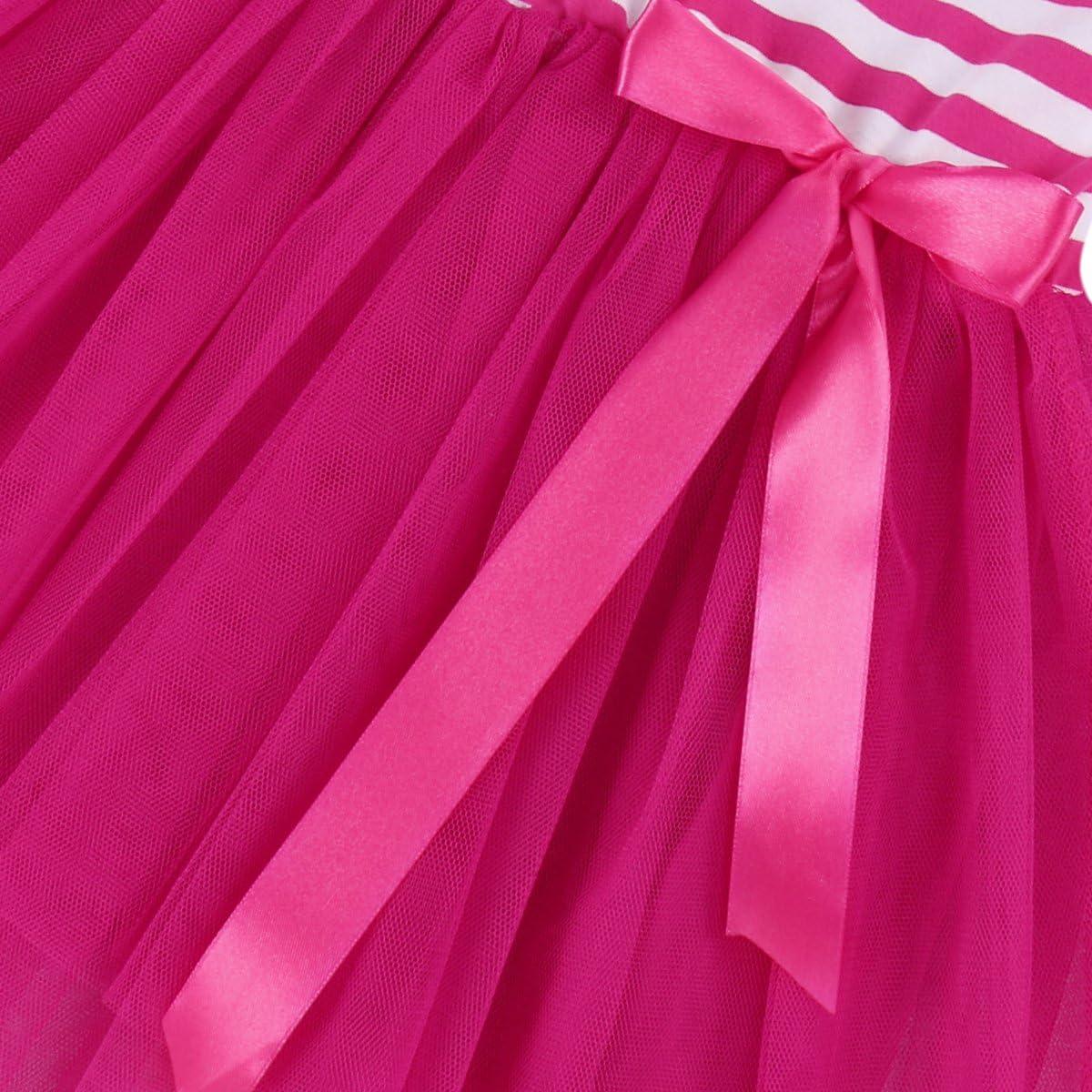IMEKIS Baby Girls 1st//2nd//3rd Birthday Dress Cake Smash Outfit Long Sleeve Skirt