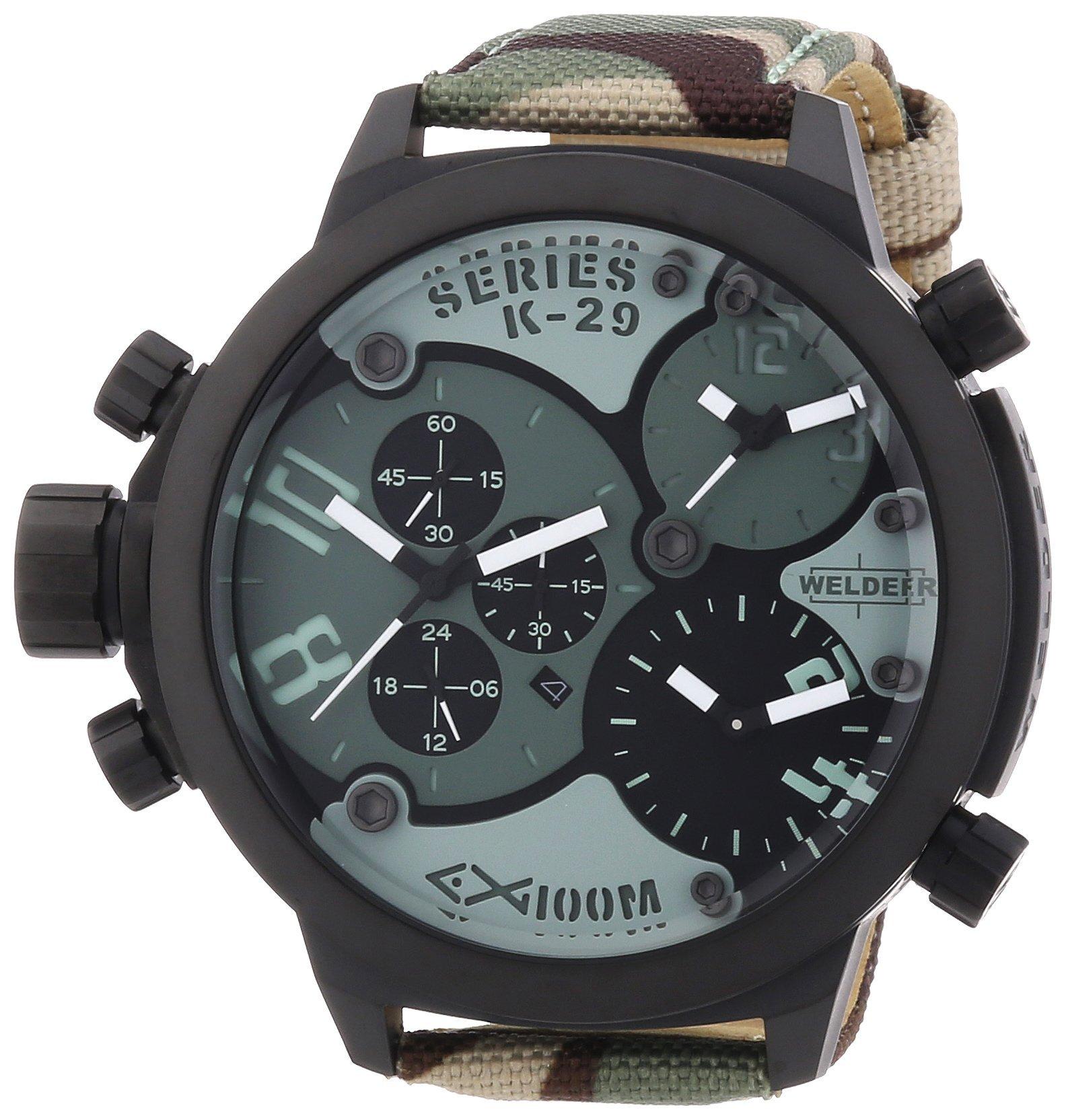Welder Unisex 8004 K29 Oversize Three Time Zone Chronograph Watch