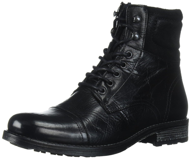 ALDO Men's Senehauz Ankle Bootie B07218GFD4 7 D(M) US|Black Leather