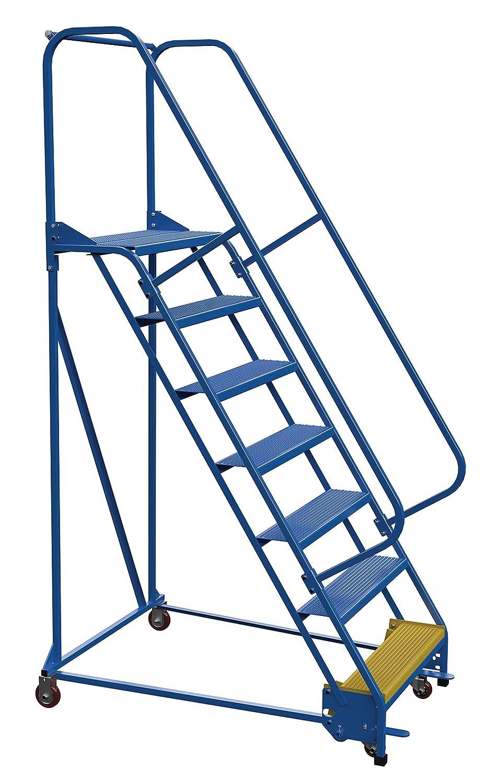 Vestil LAD-PW-32-7-P escalera de almacén portátil perforada, 30 x 25 pulgadas, 7 escalones, color azul: Amazon.es: Amazon.es