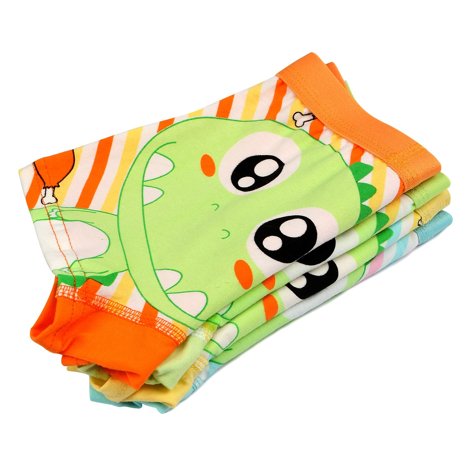 BOOPH Little Boys Underwear, Cotton Dinosaur Baby Toddler Boxer Briefs Underpant for Boy 4-6 Years (Pack of 4) by BOOPH (Image #5)