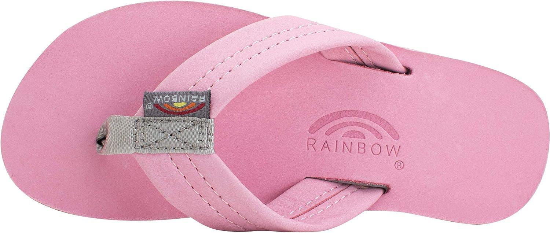 US Rainbow Sandals Kids Single Layer Premier Leather Sandals Kids 4-5 B Pink//Grey M
