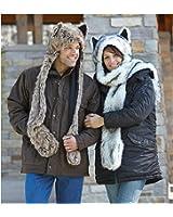 Wishpets Stuffed Animal - Soft Plush Toy for Kids - Mink Wolf Hat
